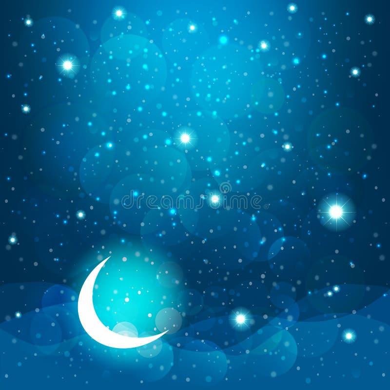 Звезды шаржа в ночном небе Вектор EPS 10 бесплатная иллюстрация