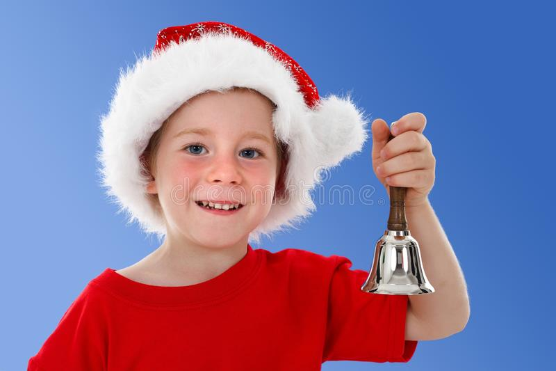 звенеть голубого ребенка колокола счастливый стоковое изображение rf