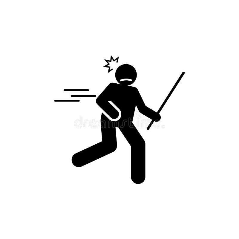 Зверский, жестокий, средний значок Элемент отрицательного значка черт характера Наградной качественный значок графического дизайн иллюстрация вектора