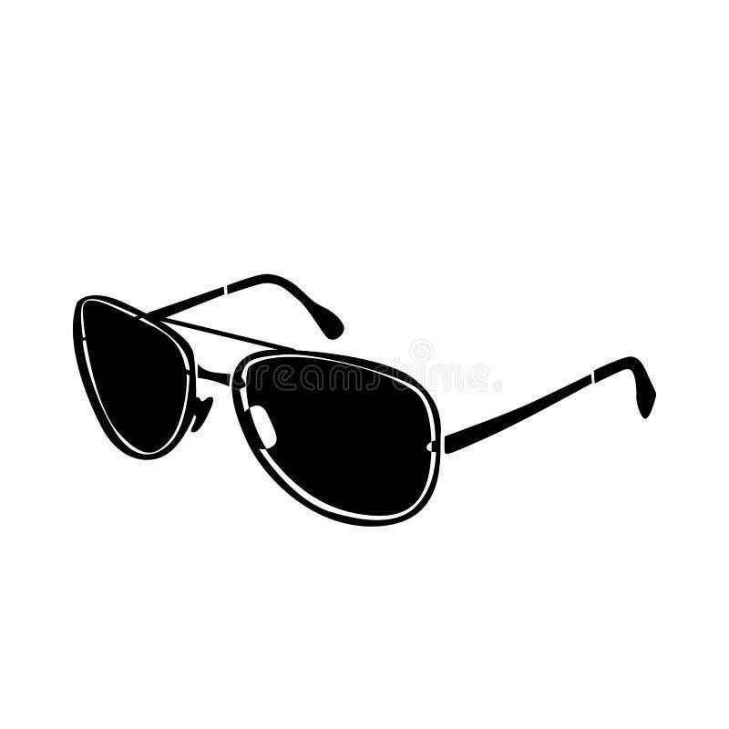 Зверский значок стекел, простой стиль иллюстрация вектора