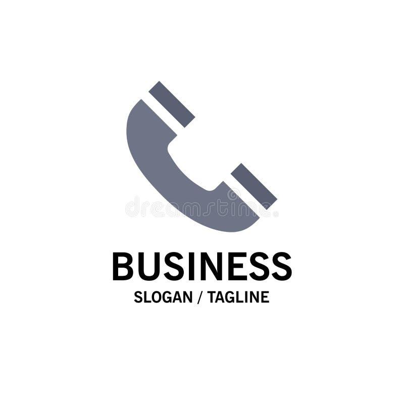 Звонок, интерфейс, телефон, шаблон логотипа дела Ui r иллюстрация вектора