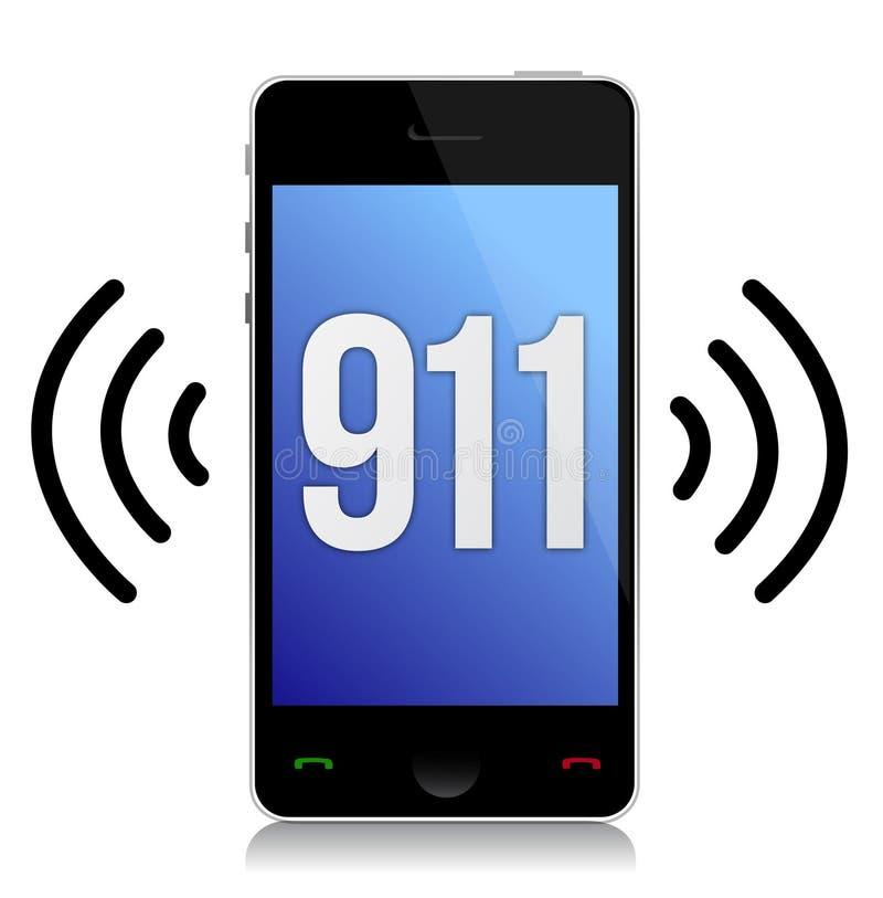 Звонок непредвиденный 911 иллюстрация штока