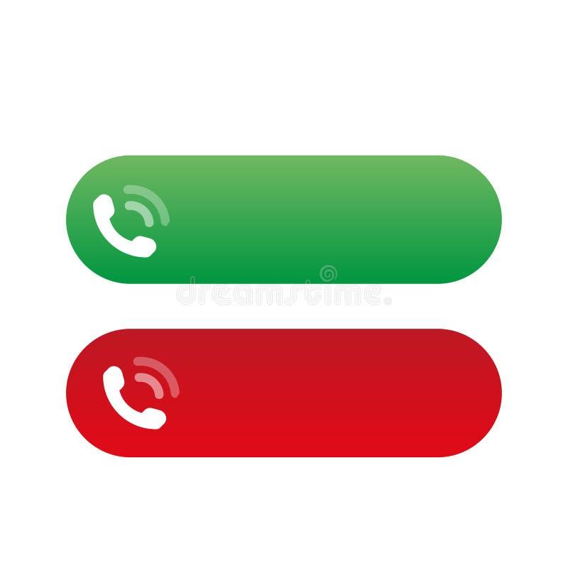 Звонок признавает и отвергает значки, вектор бесплатная иллюстрация