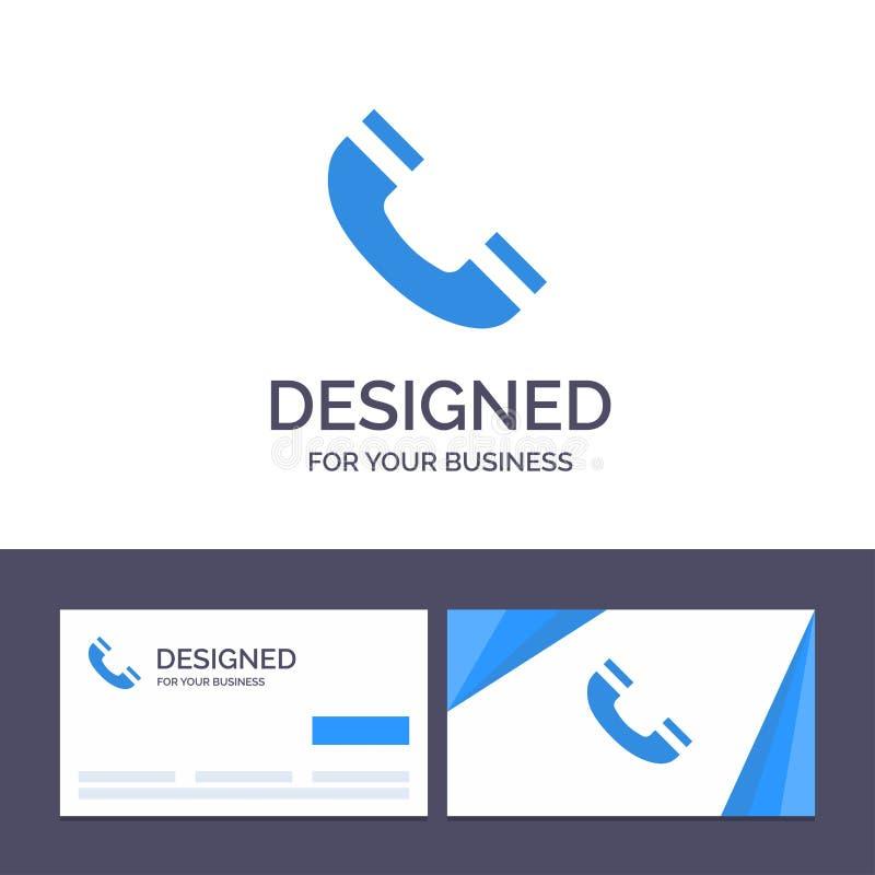 Звонок творческого шаблона визитной карточки и логотипа, интерфейс, телефон, иллюстрация вектора Ui бесплатная иллюстрация