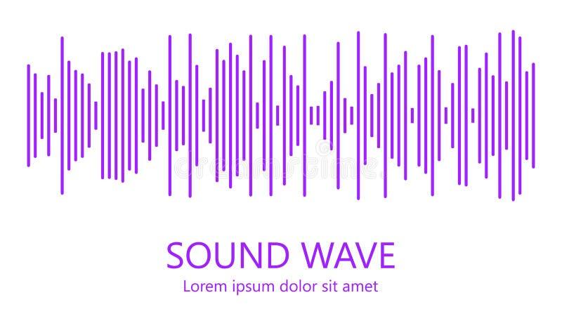 Звуковая война Аудио выравниватель Детальные черные линии на белой предпосылке Музыкальная концепция r бесплатная иллюстрация