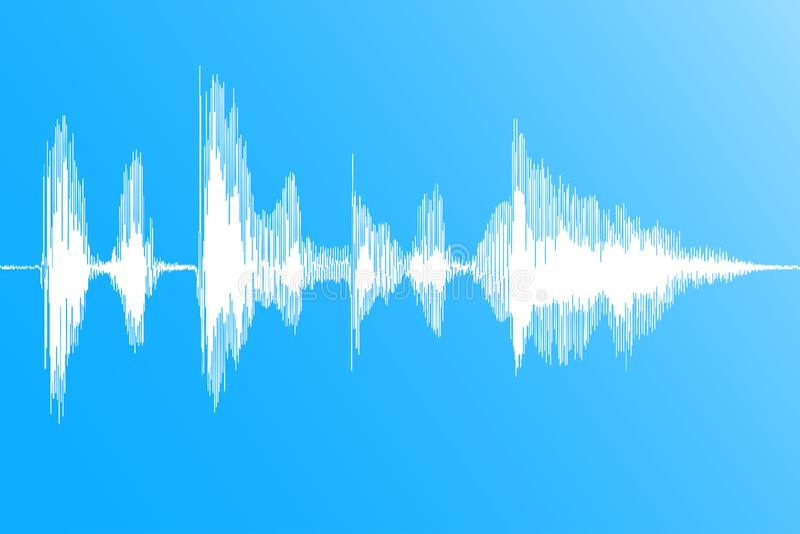 Звуковая война Реалистическое динамическое soundwave, подача музыки цифровая на голубую предпосылку вектор иллюстрация вектора