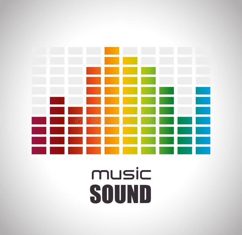 Звуковой дизайн музыки иллюстрация вектора