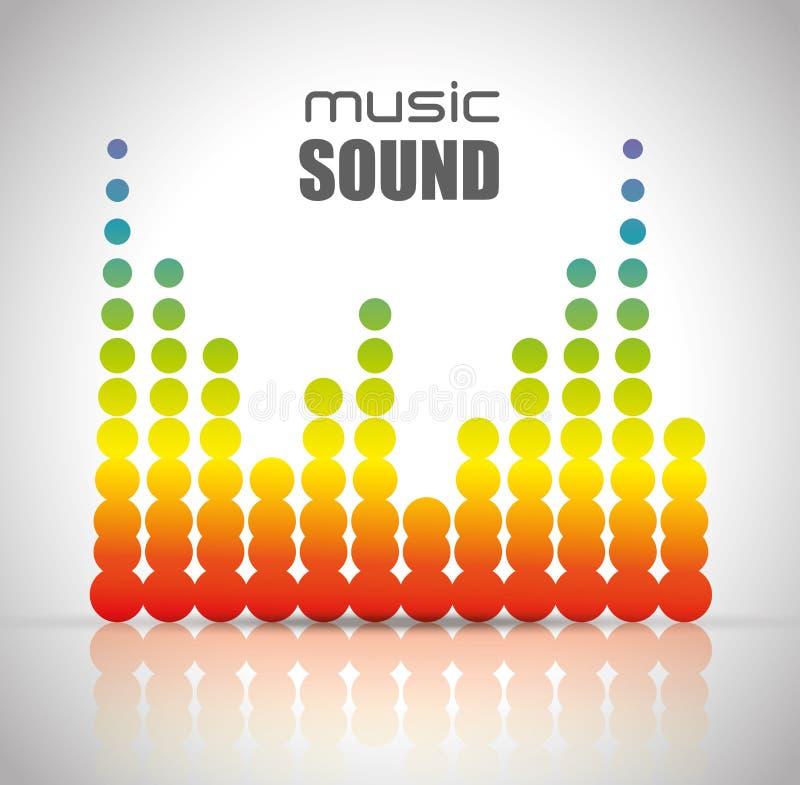 Звуковой дизайн музыки иллюстрация штока