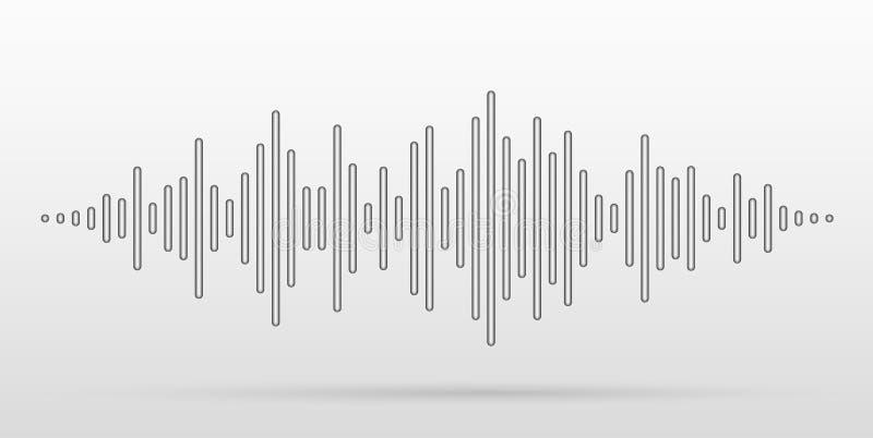 Звуковые войны вектора стилизованные с выпуклыми ручками Визуальный эффект выравнивателя музыки бесплатная иллюстрация