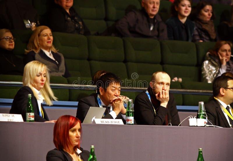 Звукомерная гимнастика Grand Prix в Киеве, Украине стоковая фотография rf