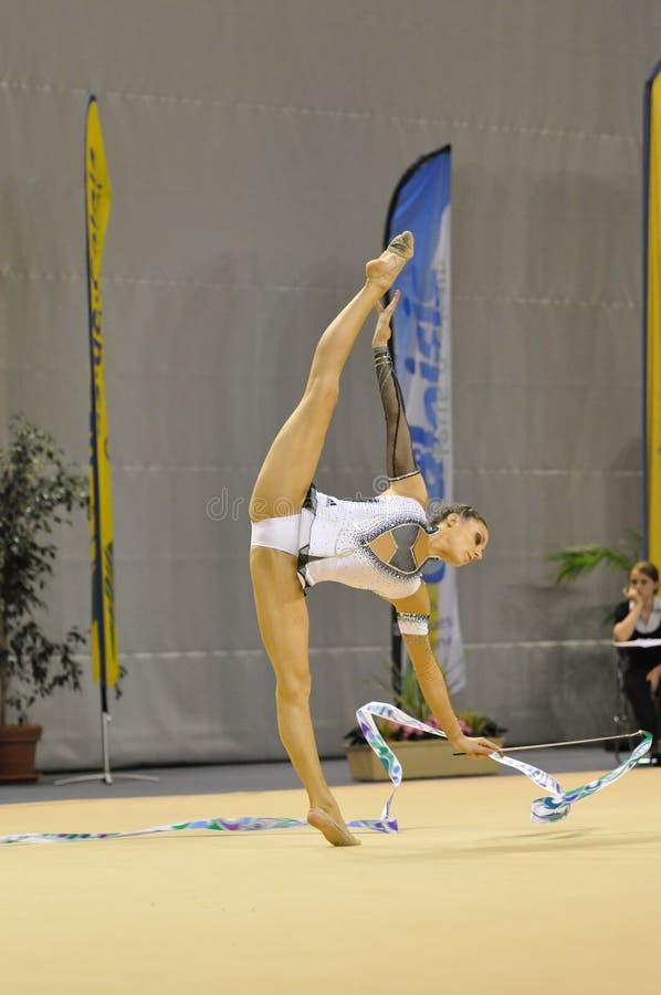 Звукомерное гимнастическое, Delphine Ledoux стоковые фото