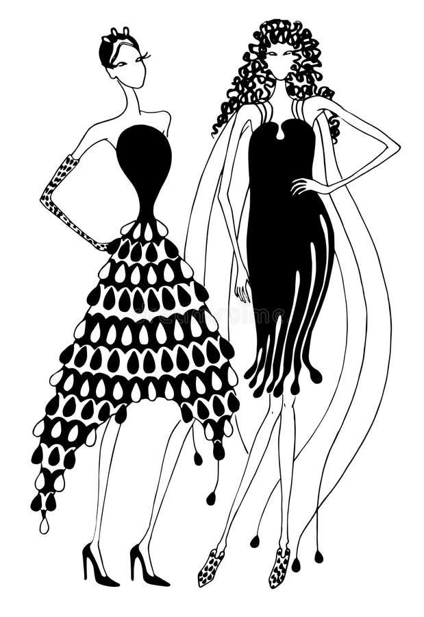 Звукомерные платья стоковая фотография rf