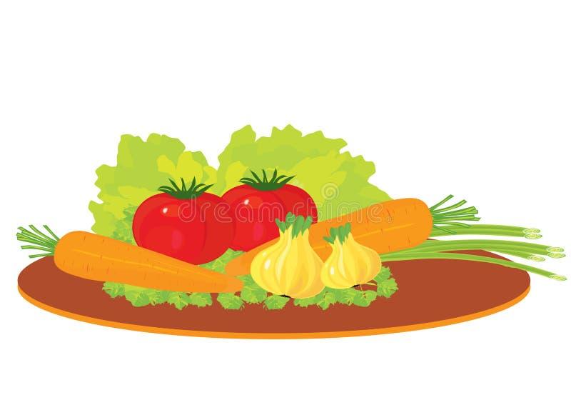 звук еды иллюстрация вектора