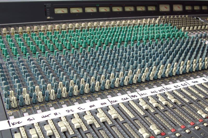 звук пульта смешивая стоковая фотография rf