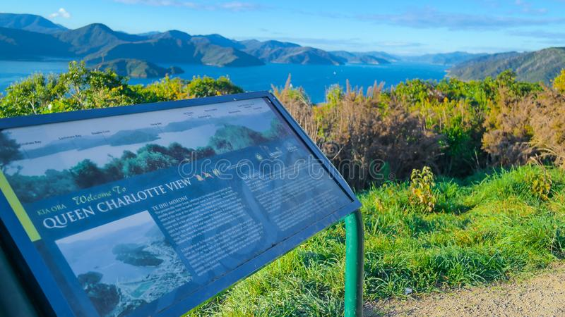 Звук ферзя Шарлотты, Новая Зеландия стоковое изображение rf