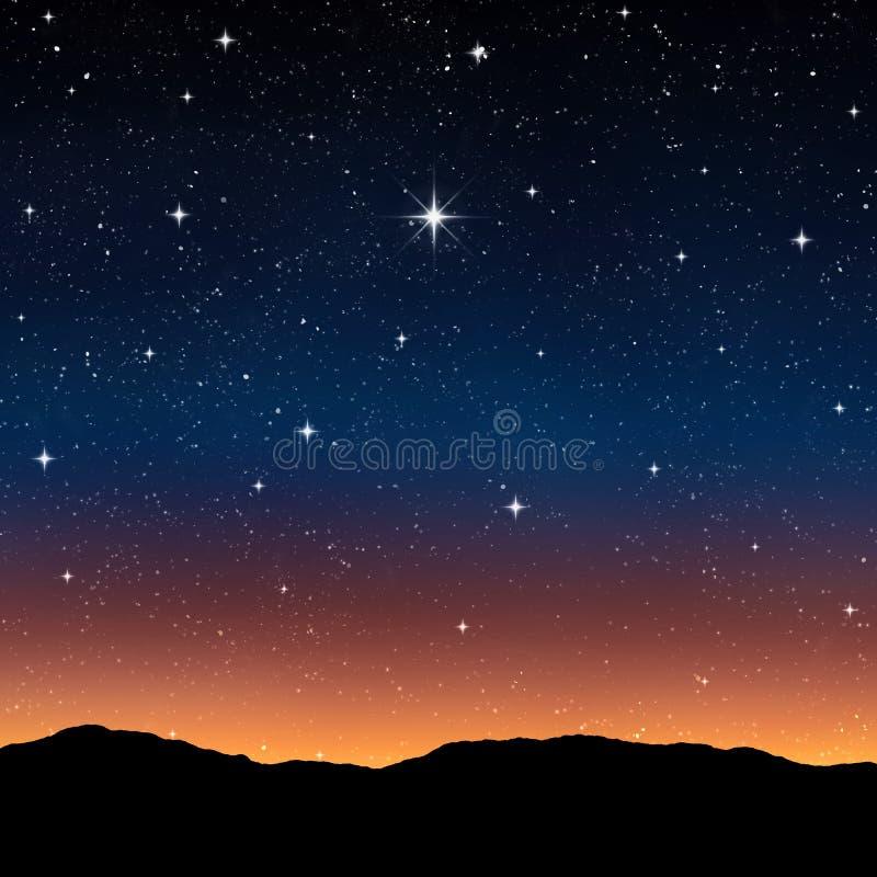 Звёздное небо на ноче стоковые изображения