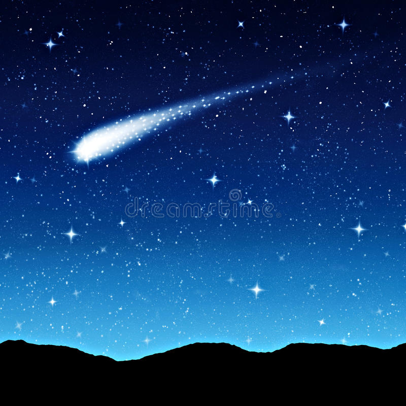 Звёздное небо на ноче стоковое изображение rf