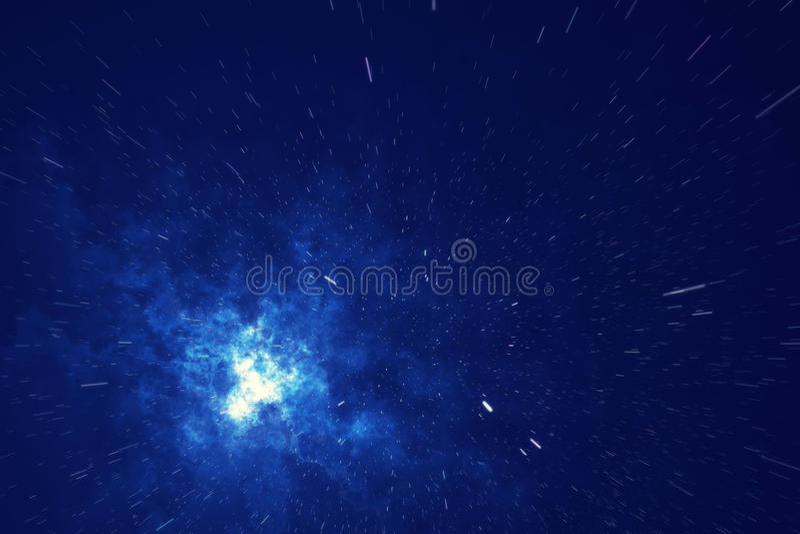 Звёздная текстура предпосылки космического пространства с межзвёздным облаком Красочная предпосылка космического пространства неб иллюстрация штока
