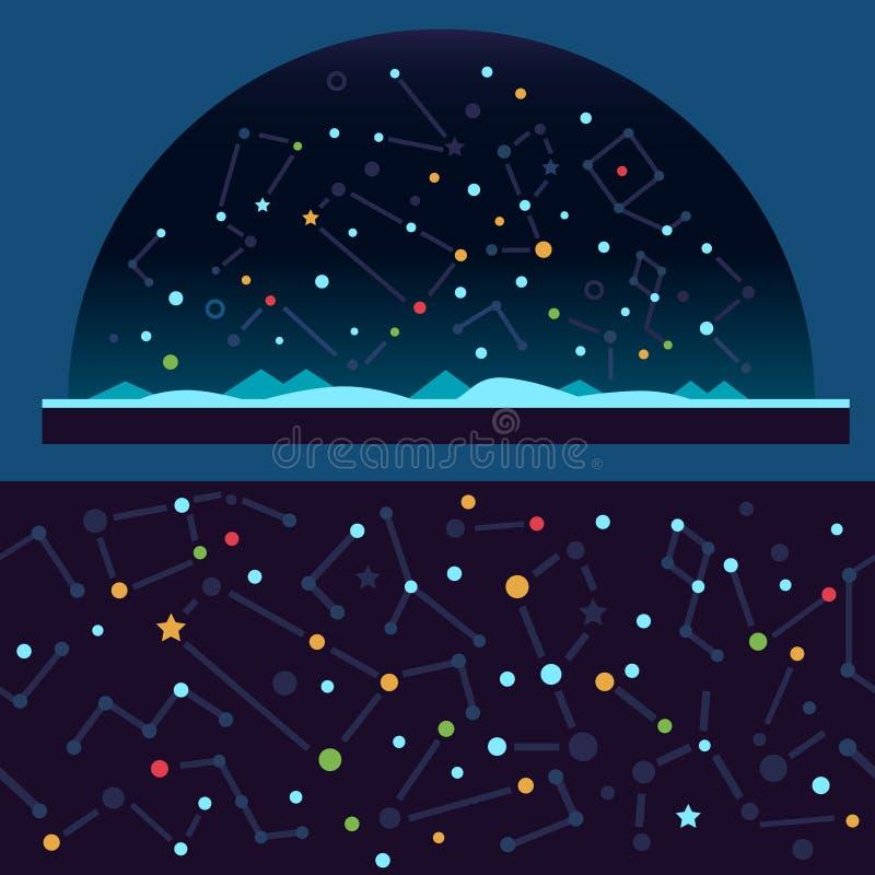 Звёздное небо, космос иллюстрация штока