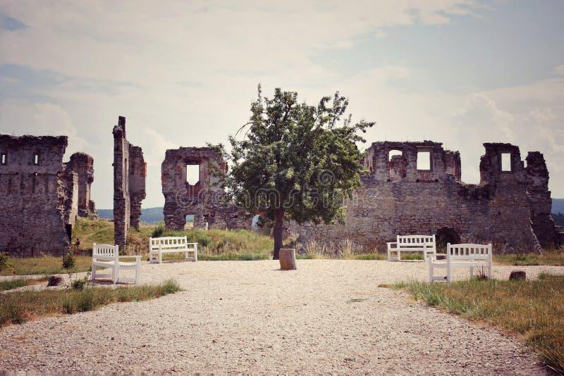 Здание архитектуры чехии zviretice замка старое стоковая фотография rf