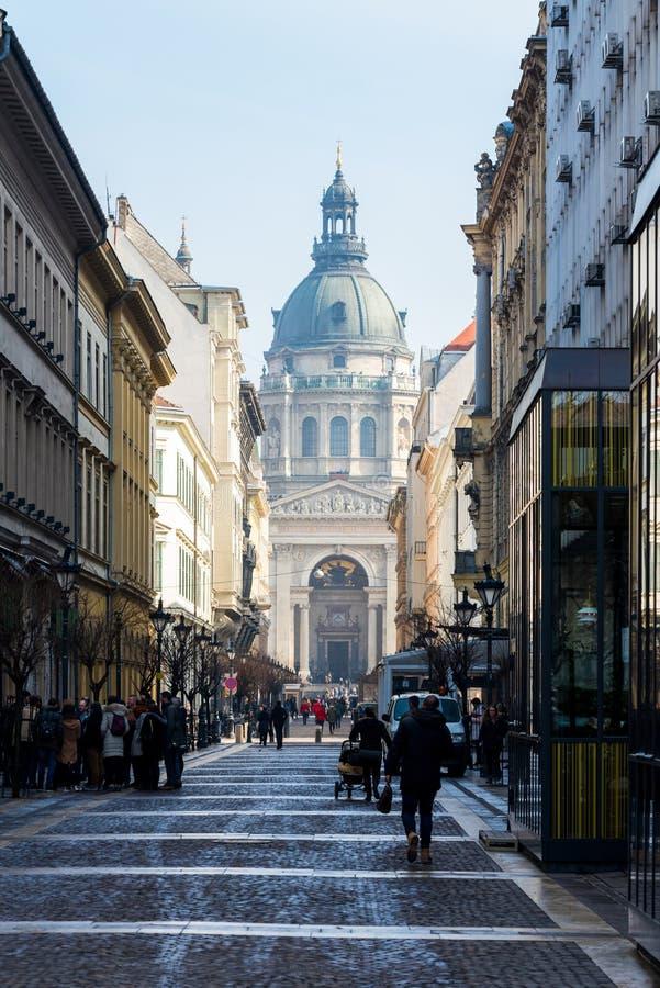 Здание базилики St Stephen в Будапеште, Венгрии 2018 стоковые изображения rf