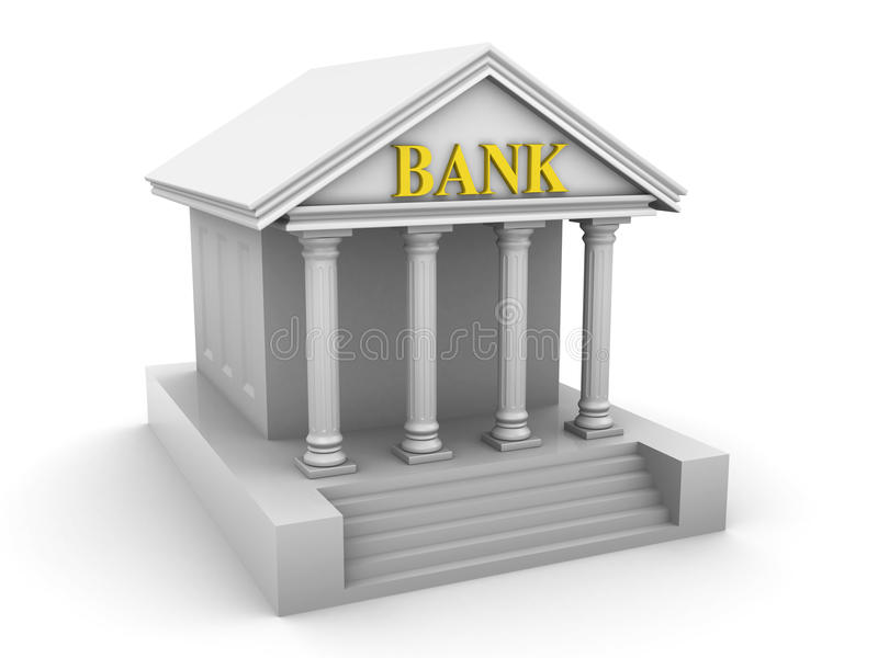 здание банка иллюстрация вектора