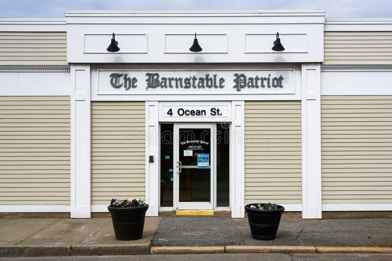 Здание 'Барнстейбл патриот' в Хайанисе, штат Массачусетс стоковое изображение rf