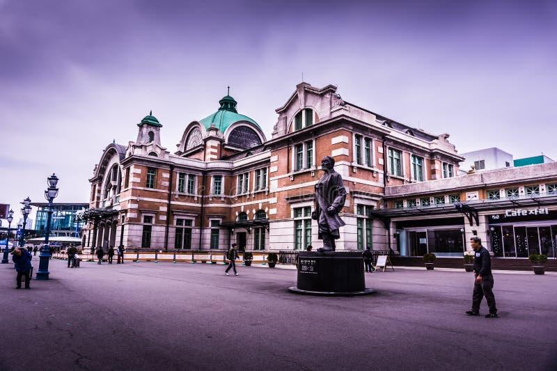 Здание вокзала Сеула историческое стоковые фото