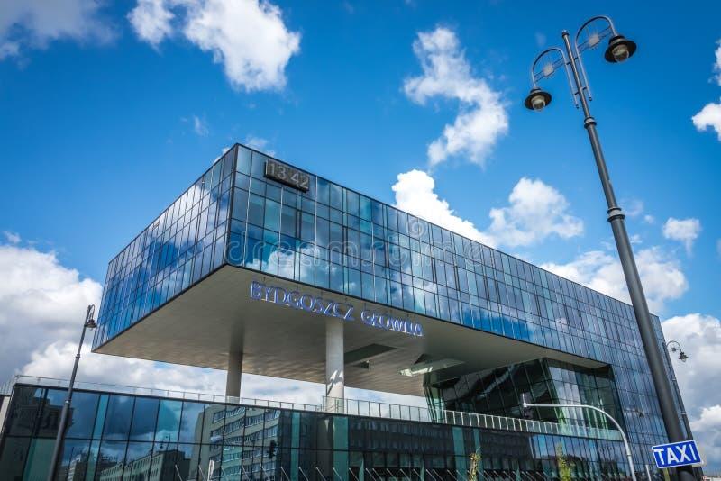 Здание вокзала Bydgoszcz Glowna стоковое изображение rf