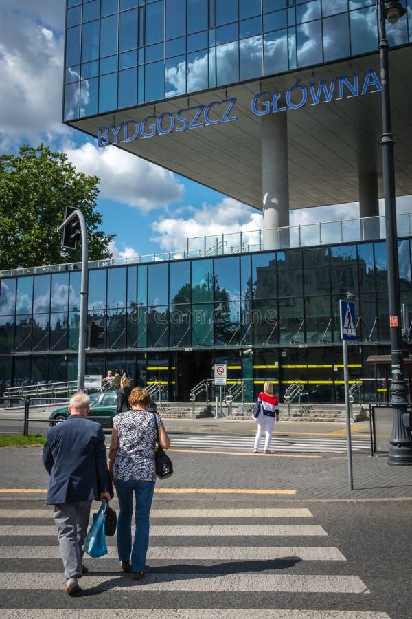 Здание вокзала Bydgoszcz Glowna стоковые изображения