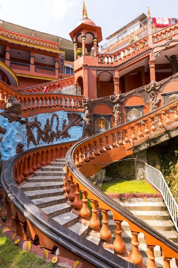Здание входа пещеры Pokhara Непала Gupteshwar Mahadev стоковое фото