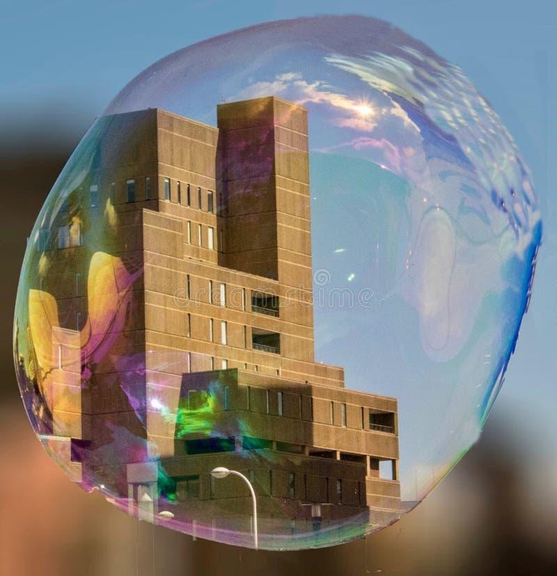 Здание в пузыре стоковое фото
