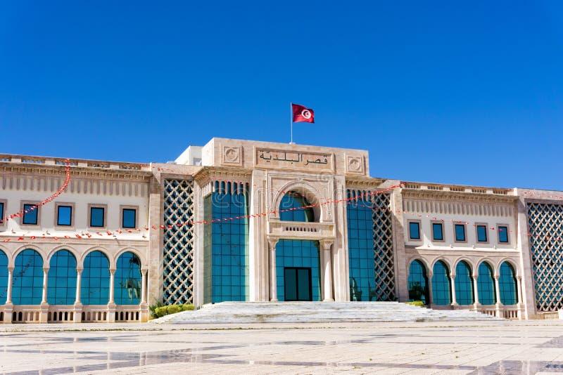 Здание городской ратуши в Тунисе, Тунисе стоковая фотография rf
