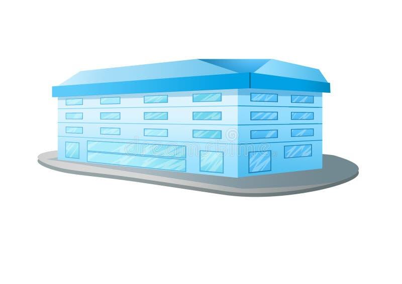 Здание дизайна на белой предпосылке бесплатная иллюстрация