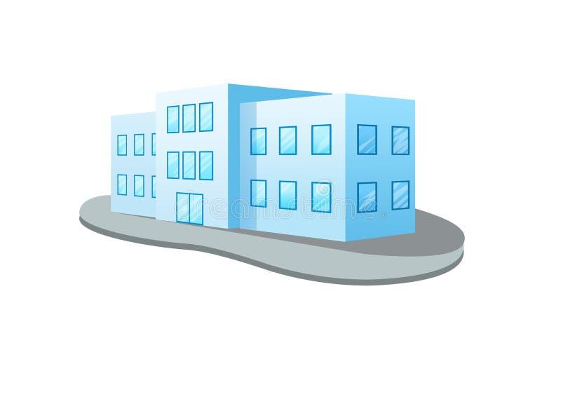 Здание дизайна на белой предпосылке иллюстрация вектора