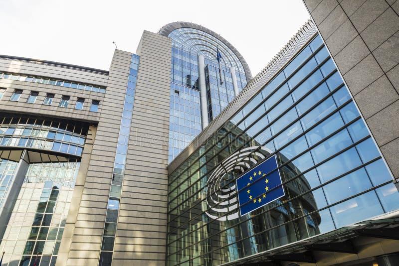 Здание Европейского парламента в Брюсселе, Бельгии стоковая фотография
