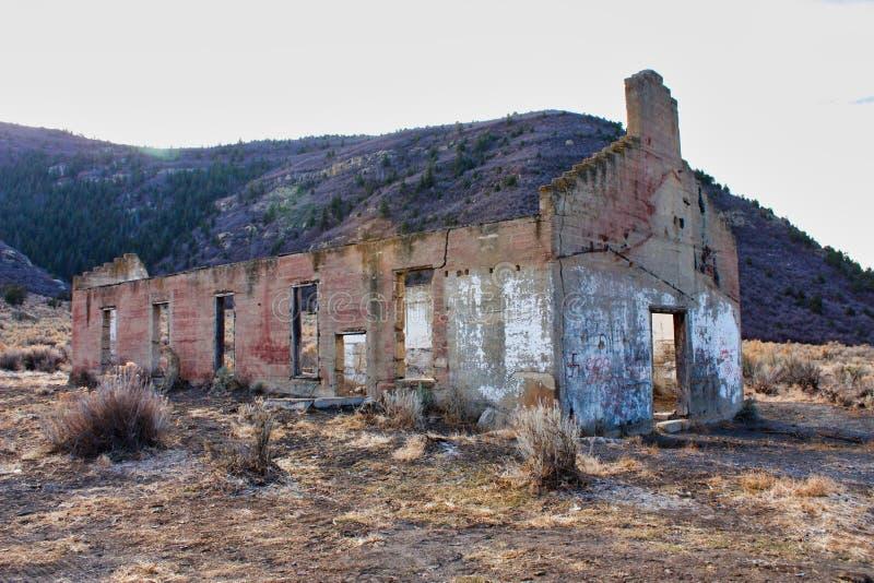 Здание железной дороги пропуска Baxter в Колорадо стоковые изображения rf