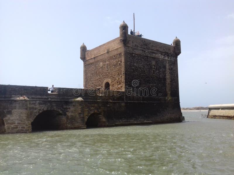 Здание замка моря старое стоковое фото rf