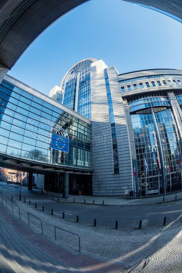Здание и Европейский парламент Пола Henri Spaak стоковая фотография