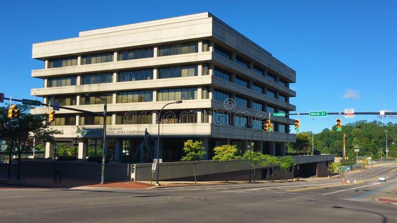 Здание и здание суда Seiberling федеральные в Akron, Огайо стоковые изображения