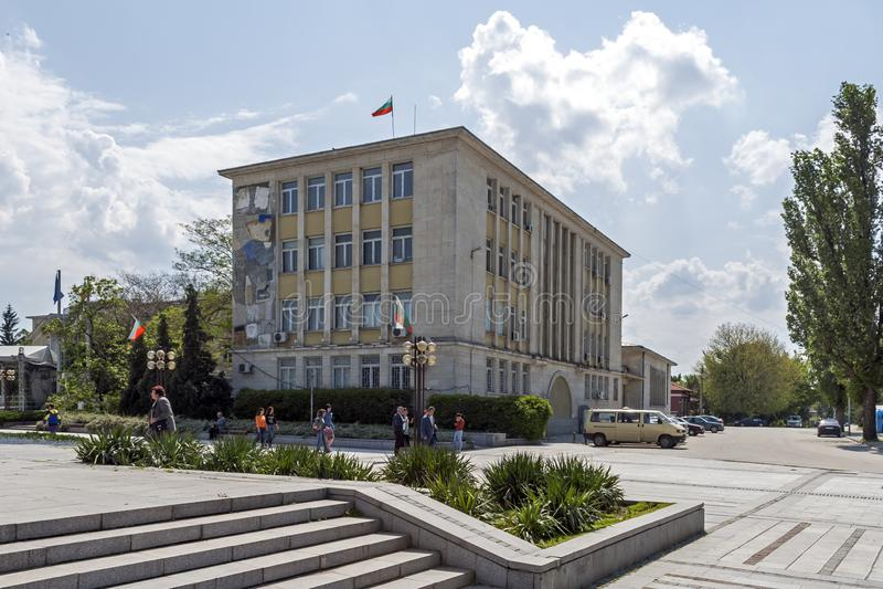 Здание и улица в центре города Silistra, Болгарии стоковое фото rf