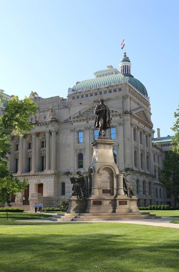 Здание капитолия государства Индианы Индианаполис стоковые изображения