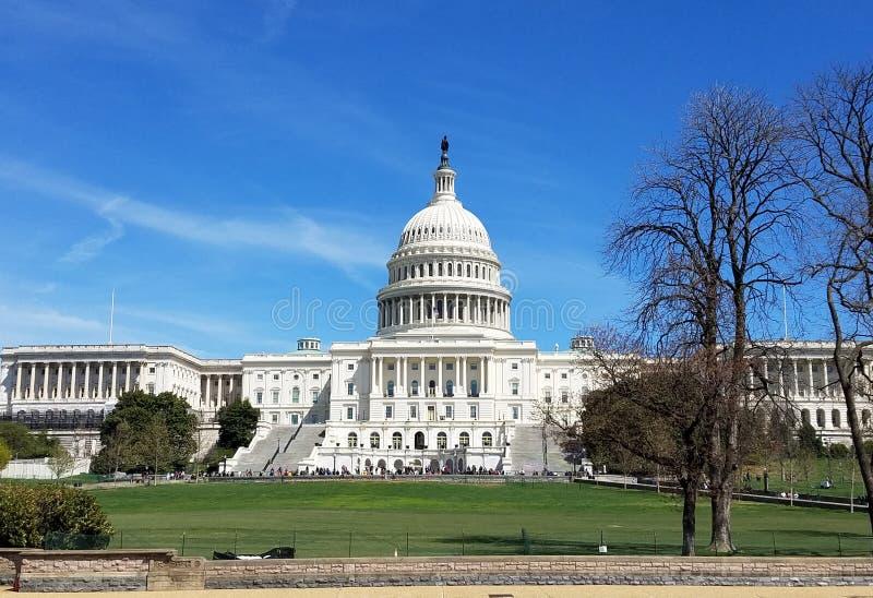 Здание капитолия Соединенных Штатов, на конгрессе США в DC Вашингтона стоковая фотография