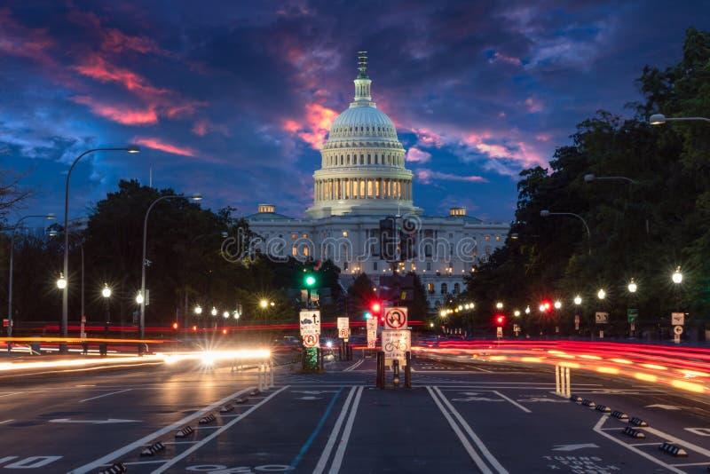 Здание Капитолия США в Вашингтоне стоковое изображение