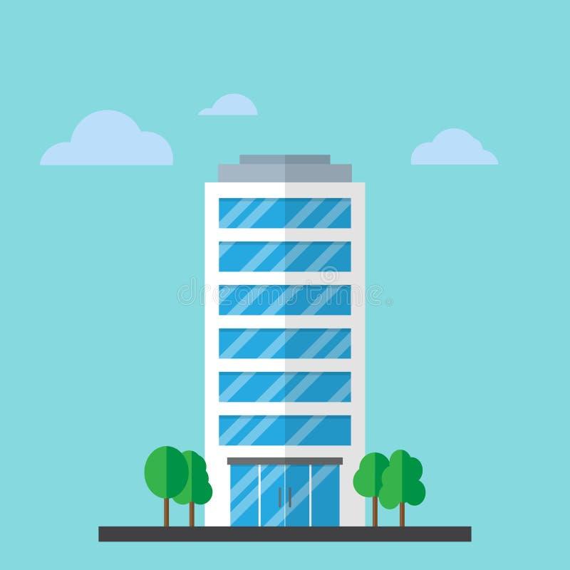 Здание компании в плоском стиле иллюстрация штока