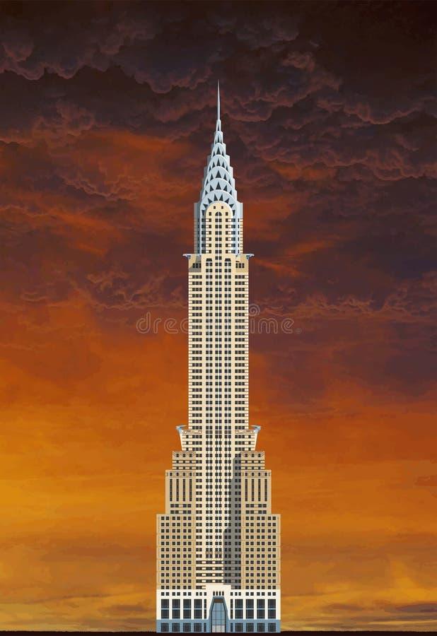 Здание Крайслер, NYC иллюстрация вектора