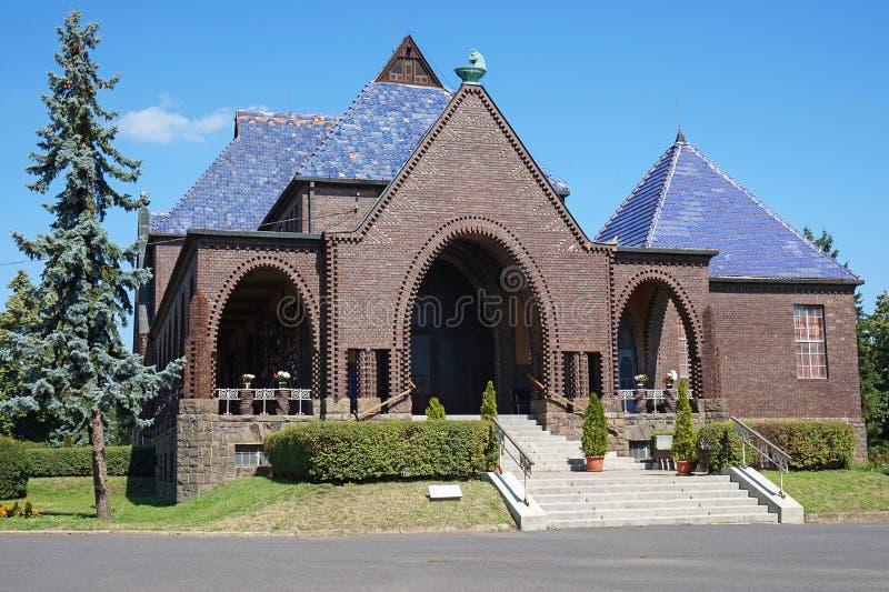 Здание крематорий и похоронного бюро стоковая фотография rf