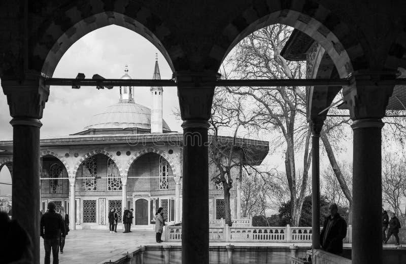 Здание купола киоска Багдада дворца Топкапы стоковая фотография rf