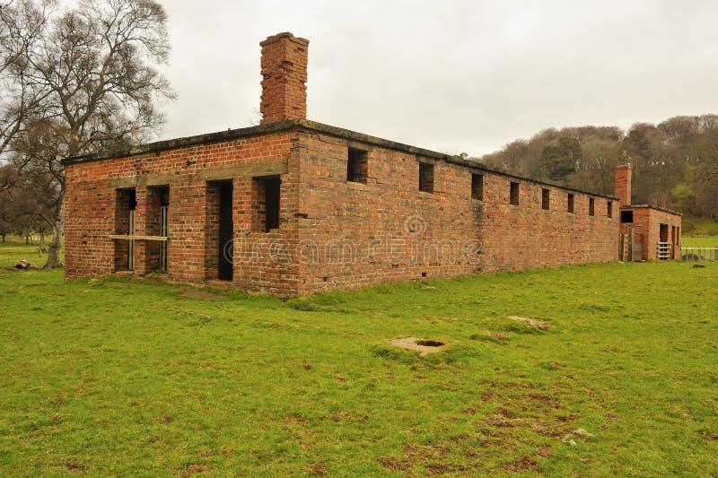 Здание лагеря POW, Northumberland стоковая фотография rf