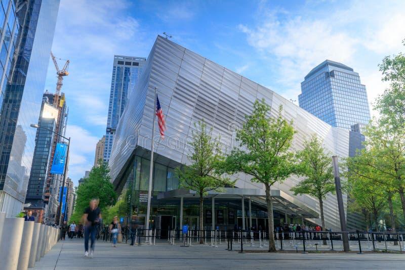 Здание 9/11 мемориальных музеев в более низком Манхаттане стоковые изображения